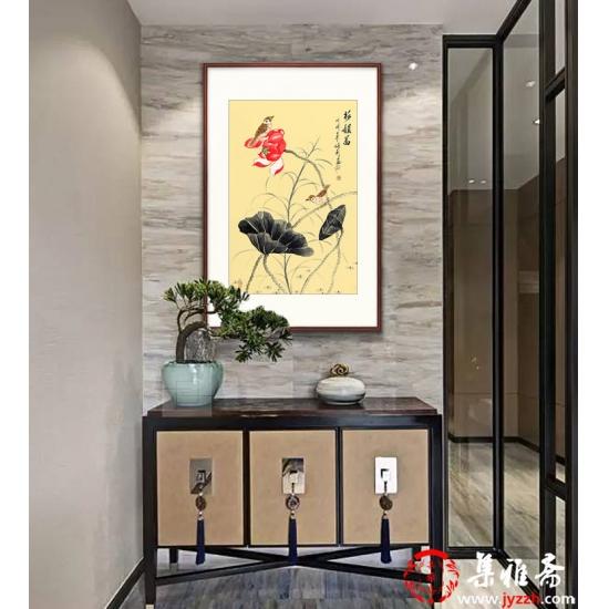 家居装饰画 张利工笔花鸟画新品佳作荷花图《荷韵图》
