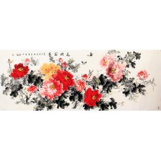 国家一级美术师张利写意牡丹图《花开富贵》