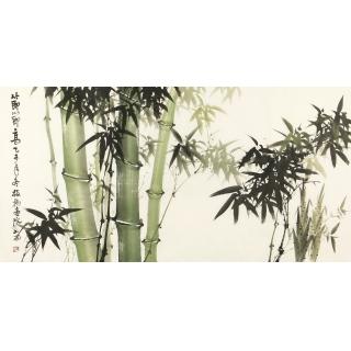 步步高升竹子图 吴山雨国画竹子图《节节高》