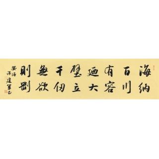 林则徐名言 许建军书法《海纳百川有容乃大》