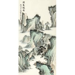 【已售】刘远东四尺竖幅新品国画《洞庭晓韵》