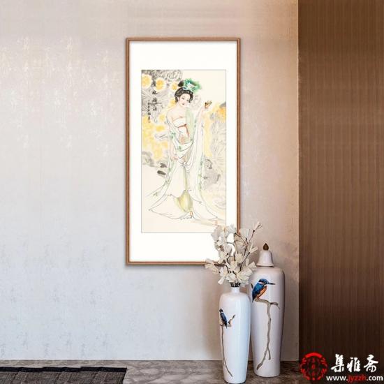 【已售】国画美女图 陈红梅四尺竖幅人物画仕女图《贵妃醉酒》
