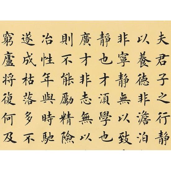 诸葛亮家训 张小东四尺斗方书法作品楷书《诫子书》