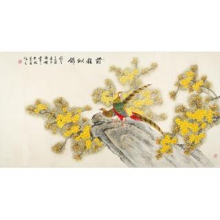 锦绣前程 国画家张清栋工笔花鸟画作品