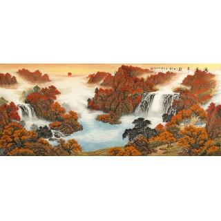 鸿运聚宝盆 赵君辉人气风水画作品《鸿运千秋》