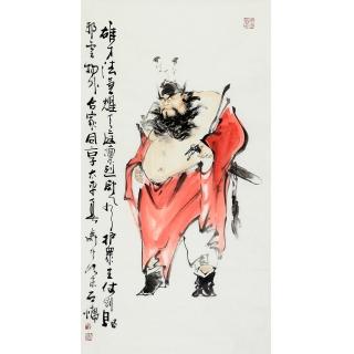 江苏美协石慵三尺钟馗人物画《神威图》