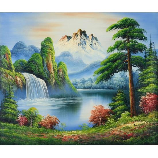收藏装饰画 当代著名油画艺术家 邹志兴油画《梦回村庄》