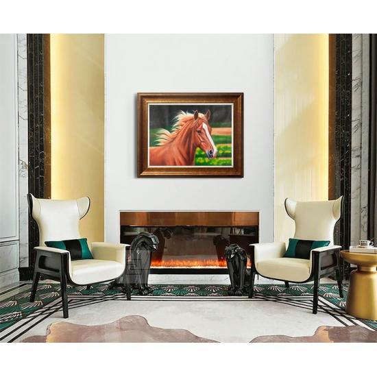 欧式客厅装饰画 卧室挂画 别墅装饰画 邹志兴油画《马》