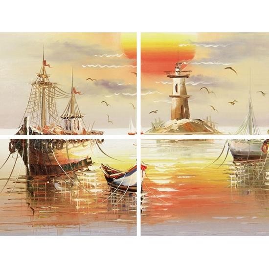 简约现代装饰画画 玄关挂画 邹志兴油画《一帆风顺》