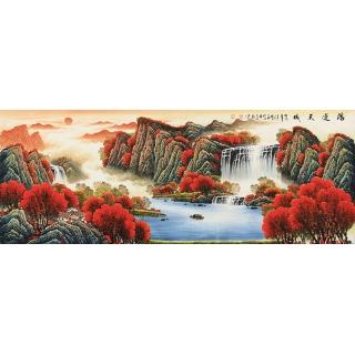 【已售】鸿运风水图 陈厚刚新品力作山水画《鸿运天成》