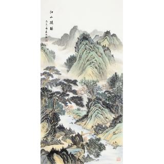 【已售】宁良成四尺竖幅国画作品《江山揽胜》