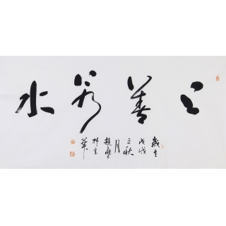 赵立鹤四尺横幅书法作品行书《上善若水》