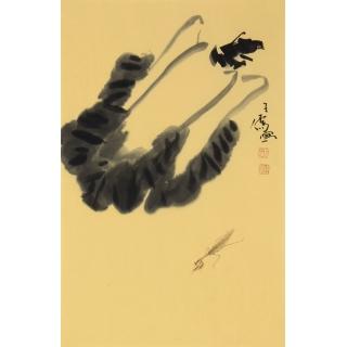 王子儒老师最新四尺三开花鸟画《百财图》