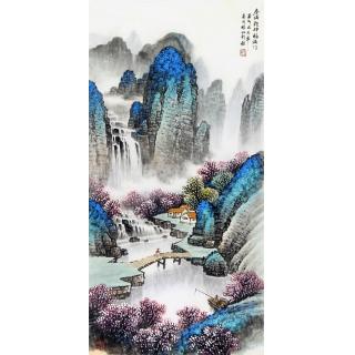 玄关走廊装饰画 杨炳钧聚宝盆风水画作品《春满乾坤》