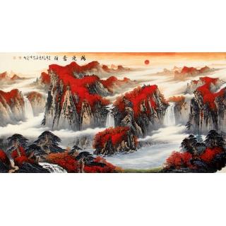 【已售】陈厚刚鸿运聚宝盆山水画作品《鸿运当头》