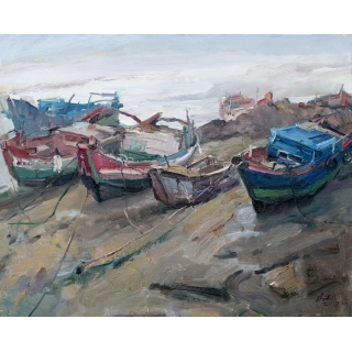 中国美术家协会主席 范迪安油画作品《油画》