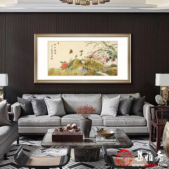 张洪山新品工笔鸽子图《和平新春》