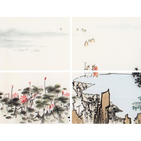 齐伟家新品创作写意国画山水画《香清益远》