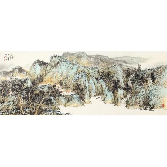 沙发背景墙挂画 徐明杰老师新品山水画《溪畔》
