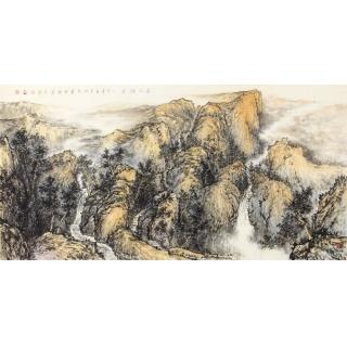 泰山山水画 画家徐明杰山水国画新品《泰山雄姿》