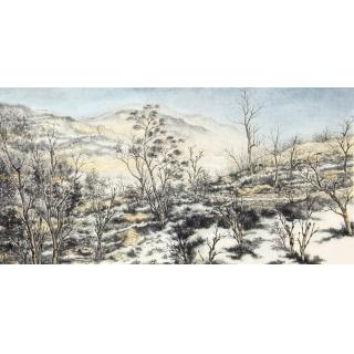 徐明杰新品力作写生风景国画作品《深秋》