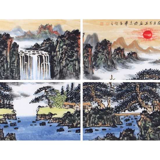 王本杰最新国画作品《紫气东来》