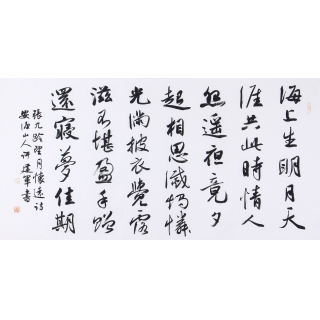 中国书协 许建军新品行书书法《望月怀古》