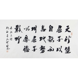 易经名言 中书协会员刘福友四尺书法作品《天行健》