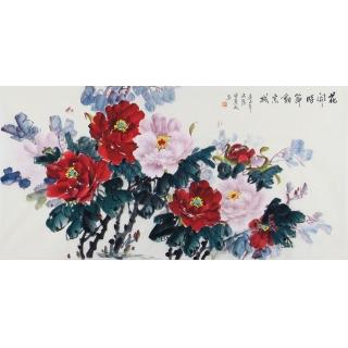 花开富贵图 宣丽敏牡丹画新作《花开时节动京城》