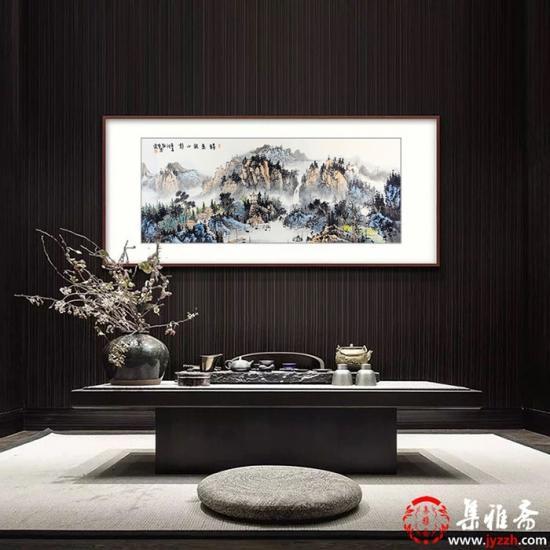 中美协会员 曹来宾新品力作经典山水画《诗意秋水静》