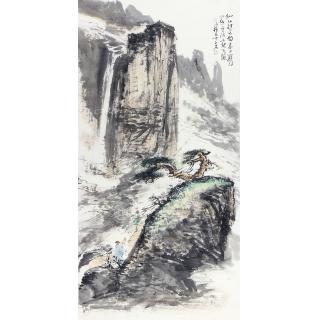 实力派画家中美协会员张京城山水画《仙山访道图》