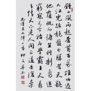 毛主席诗词 帅文华书法作品《七律·人民解放军占领南京》