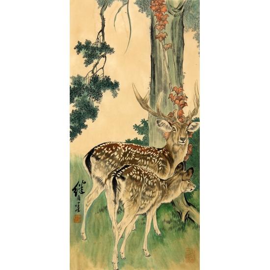 刘继卣动物画作品《梅花鹿》