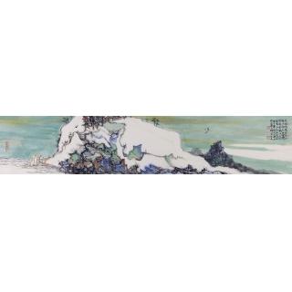 中国美协会员王辉小尺寸写意山水画《定林所居》